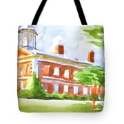 Courthouse In Summery Sun Tote Bag