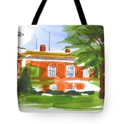 Courthouse On A Summers Evening Tote Bag by Kip DeVore