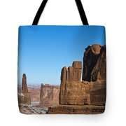 Courthouse Towers Arches National Park Utah Tote Bag