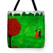 Courting Couple Tote Bag