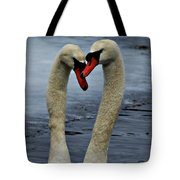 Courting Swans Tote Bag