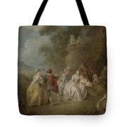 Courtly Scene In A Park, C.1730-35 Tote Bag