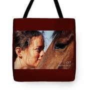 A Portrait Of Courtney And Annie Tote Bag