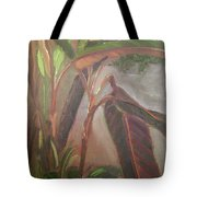 Courtyard Bananas Tote Bag