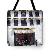 Courtyard Entry To Potala Palace In Lhasa-tibet Tote Bag