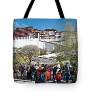 Courtyard Of Potala Palace In Lhasa-tibet Tote Bag