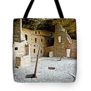 Courtyard Of Spruce Tree House On Chapin Mesa In Mesa Verde National Park-colorado  Tote Bag