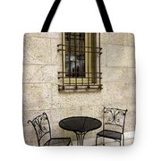 Courtyard Seating For Two Tote Bag