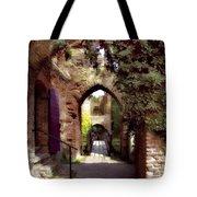 Courtyard Shadows Tote Bag