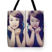 Cover Girl Diptych Tote Bag