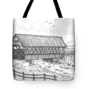 Covered Bridge Coventry Vermont Tote Bag