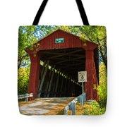 Covered Bridge In Fall Tote Bag