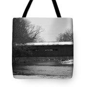 Covered Bridge In Winter Tote Bag
