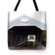 Covered Bridge North Conway Sacco River Tote Bag