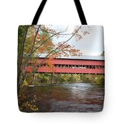 Covered Bridge Over Swift River Tote Bag