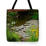 Covered Bridge Tote Bag by Frozen in Time Fine Art Photography