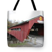 Covered Bridge Taftsville Tote Bag