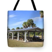 Covered Picnic Tables Tote Bag