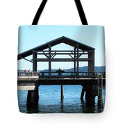 Covered Pier At Port Townsend Tote Bag