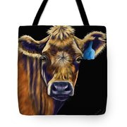 Cow Art - Lucky Number Seven Tote Bag