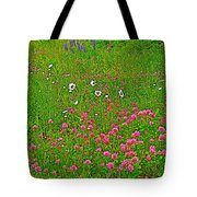 Cow Clover And Ox-eye Daisies On Campobello I Tote Bag