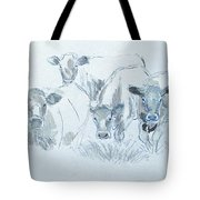Cow Drawing Tote Bag