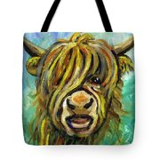 Cow Face 101 Tote Bag