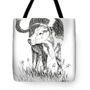 Cow In Pen And Ink Tote Bag