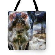 Cow Kiss Me Photo Art Tote Bag