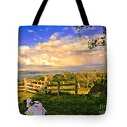 Cow Out To Pasture In Costa Rica Tote Bag