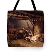 Cow Shed Tote Bag by Robert Hills