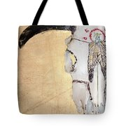 Cow Skull In Yellow Tote Bag