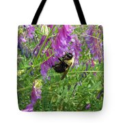 Cow Vetch Wildflowers And Bumble Bee Tote Bag