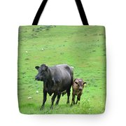 Cow With Calf On Thorpe Hillside Tote Bag