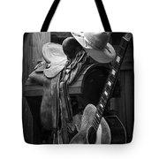 Cowboy Acoustic Guitar Tote Bag