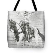 Cowboy And Horse No Fences Tote Bag
