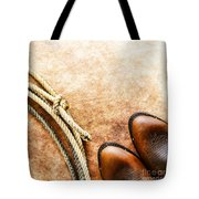 Cowboy Boots And Lasso Tote Bag