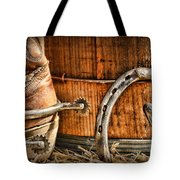 Cowboy Boots And Spurs Tote Bag by Paul Ward