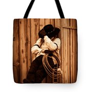 Cowboy Break Tote Bag