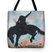 Cowboy Bronco Tote Bag