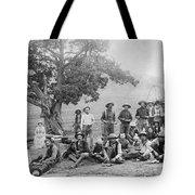Cowboy Camp, C1890 Tote Bag
