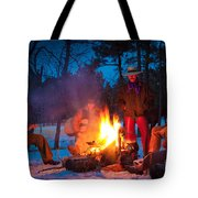Cowboy Campfire Tote Bag by Inge Johnsson