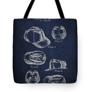 Cowboy Cap Patent - Navy Blue Tote Bag