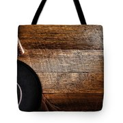 Cowboy Gear On Wood Tote Bag