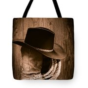 Cowboy Hat And Boots Tote Bag