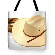 Cowboy Hat And Rope Tote Bag by Olivier Le Queinec