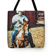 Cowboy On Paint Tote Bag