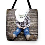 Cowboy Tote Bag by Scott Pellegrin