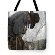 Cowboy Sleeps In The Saddle Tote Bag
