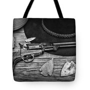 Cowboys And Indians In Black And White Tote Bag